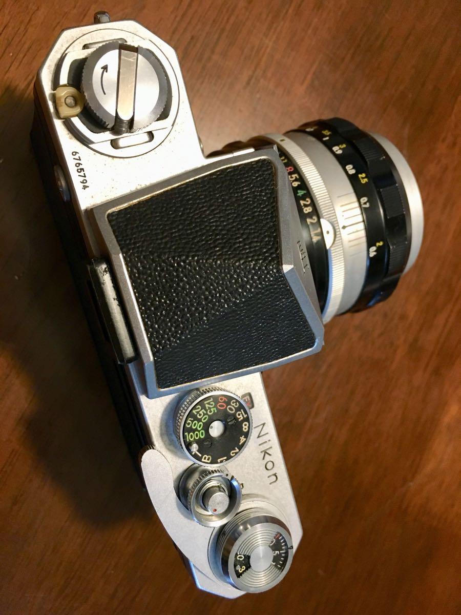 ニコン Nikon F レンズ NIKKOR-S Auto 1:1.14 f=50mm フィルムカメラ 中古 ジャンク_画像4