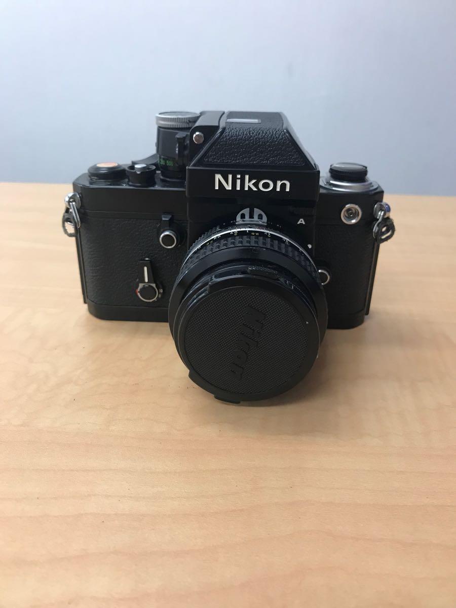 ニコン Nikon F2 Photomic A 中古品 (ジャンク品)レンズ 2本