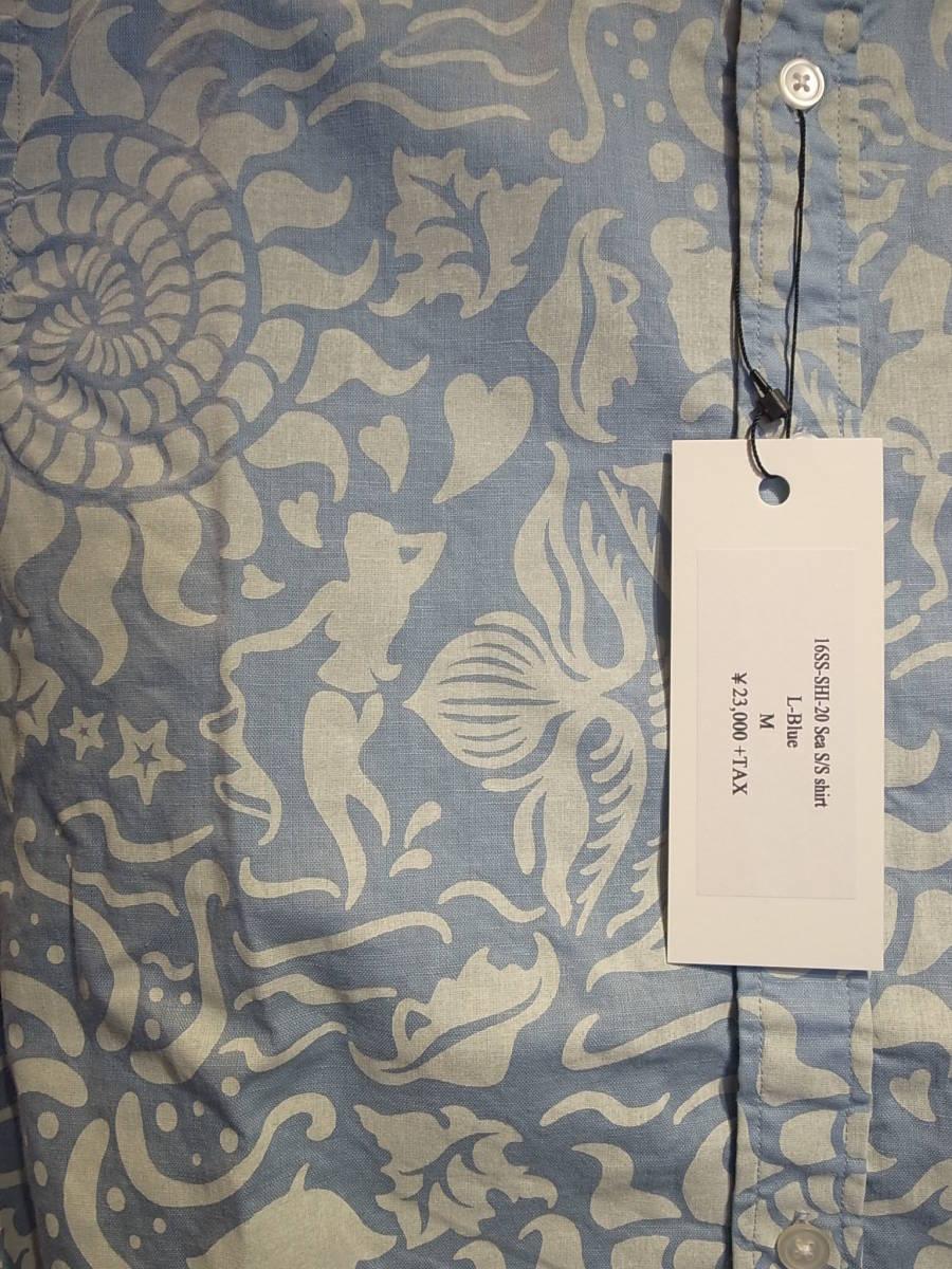 【新品】BUENAVISTA SEA S/S SHIRT ブエナビスタ 半袖シャツ Tシャツ TEE 石塚 L-BLUE サイズM_画像3