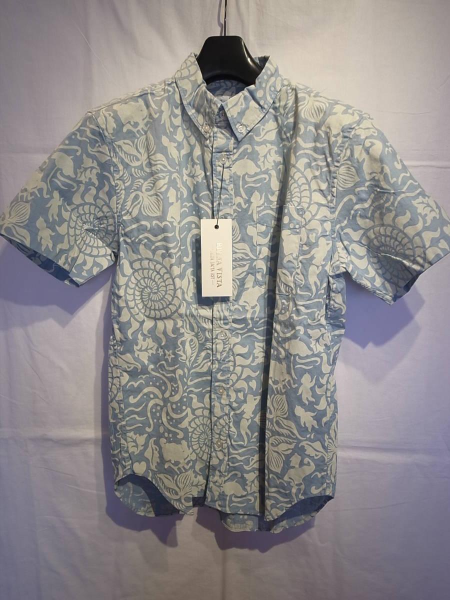 【新品】BUENAVISTA SEA S/S SHIRT ブエナビスタ 半袖シャツ Tシャツ TEE 石塚 L-BLUE サイズM_画像1