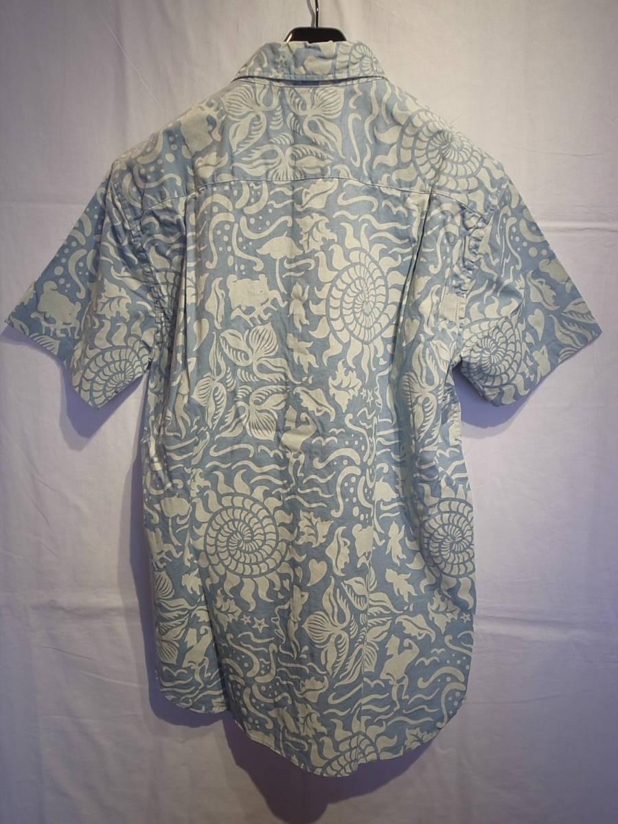 【新品】BUENAVISTA SEA S/S SHIRT ブエナビスタ 半袖シャツ Tシャツ TEE 石塚 L-BLUE サイズL_画像2