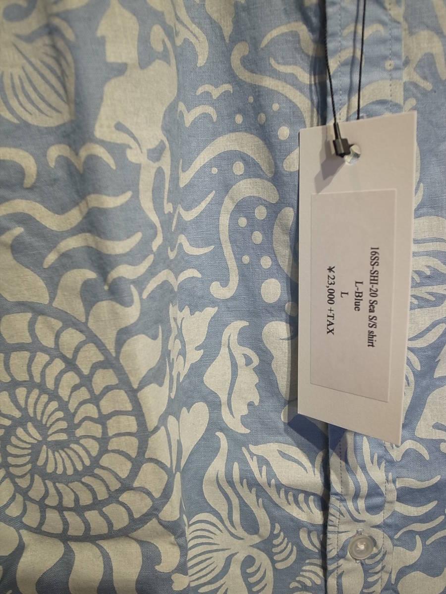 【新品】BUENAVISTA SEA S/S SHIRT ブエナビスタ 半袖シャツ Tシャツ TEE 石塚 L-BLUE サイズL_画像3