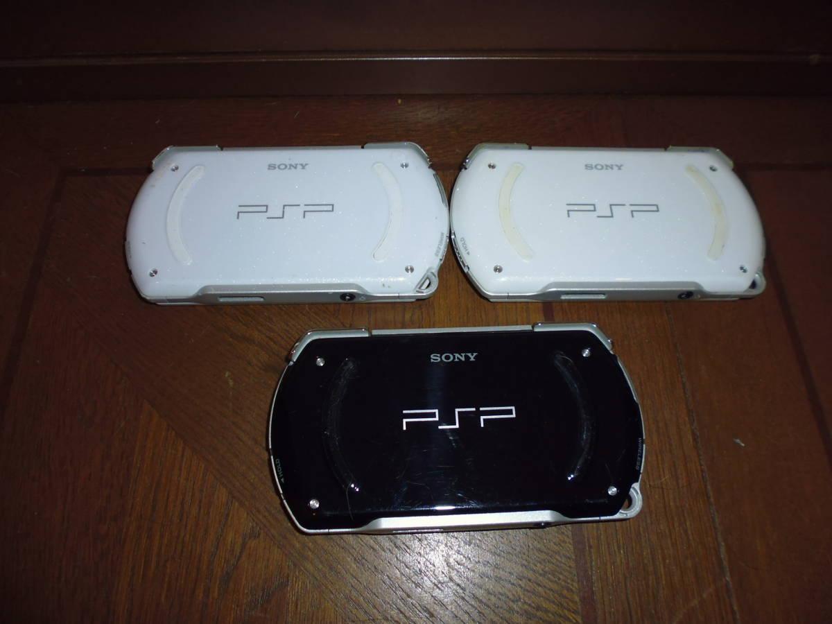 SONY PSPgo PSP-N1000 本体のみ ジャンク品 3台_画像3