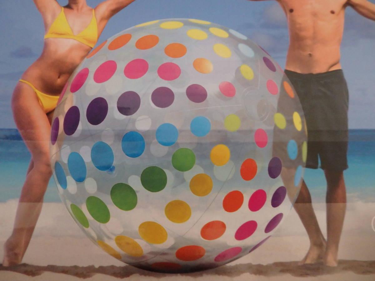 即決☆新品未使用☆レア! 超巨大!183cm 大きいビーチボール 超巨大ビーチボール ジャンボ_画像3