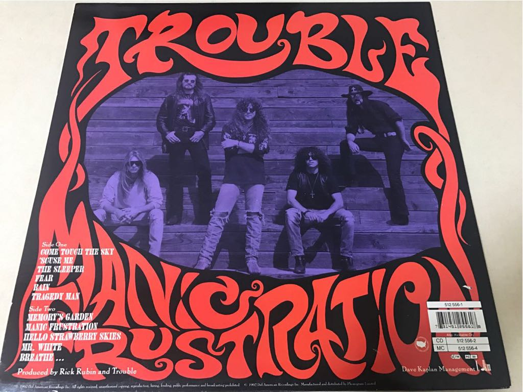 LP◯TROUBLE MANIC FRUSTRATION[Def American/1992年]_画像2
