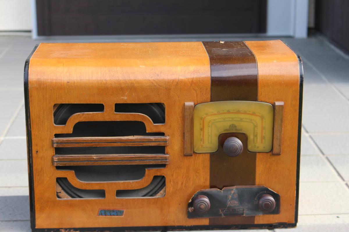 真空管ラジオ メーカー不明 TED? TEL? ジャンク品(検索)昭和レトロ アンティーク 真空管式 ビンテージ 古い ラジオ