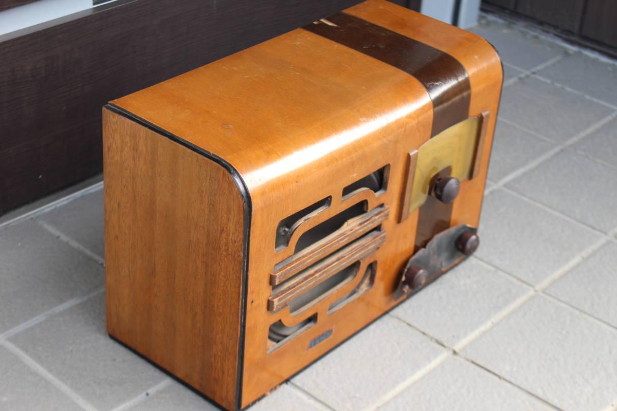 真空管ラジオ メーカー不明 TED? TEL? ジャンク品(検索)昭和レトロ アンティーク 真空管式 ビンテージ 古い ラジオ_画像2