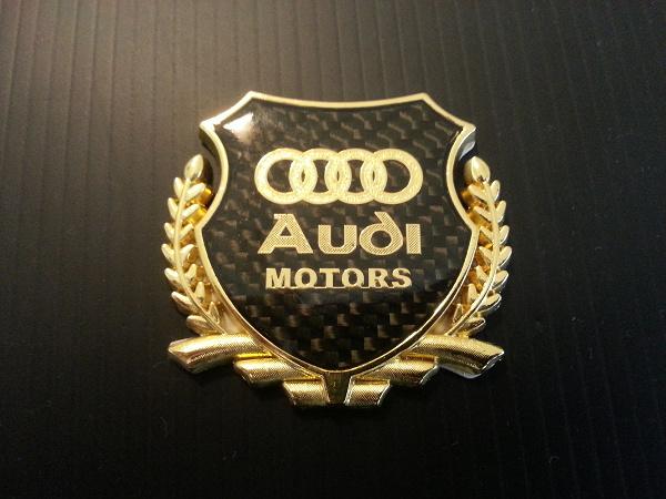 Audi Emblem Black Carbon Gold Postage 210 Jpy