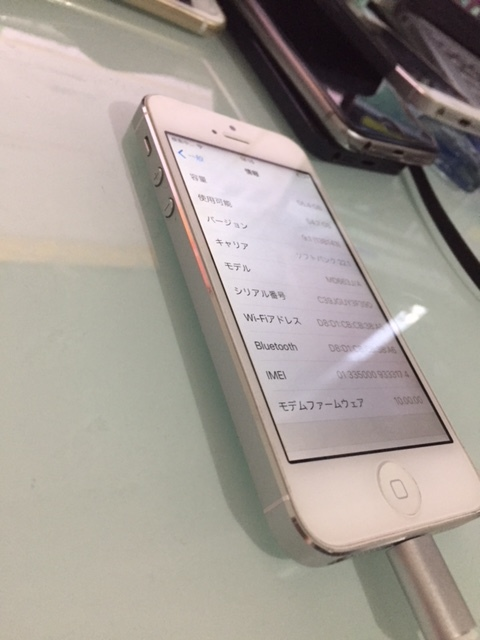 iPhone5 64GB シルバー 美品 利用制限〇 箱 バッテリー良好 ソフトバンク 工具付 5_画像4