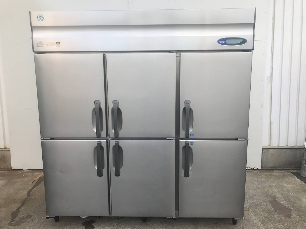 1484)HOSHIZAKI 業務用冷蔵庫(冷凍室付き) ホシザキ HCF-180CZF3-ML 6ドア 4ドア恒温高湿(ワイドスルー)、2ドア冷凍タイプ _画像1