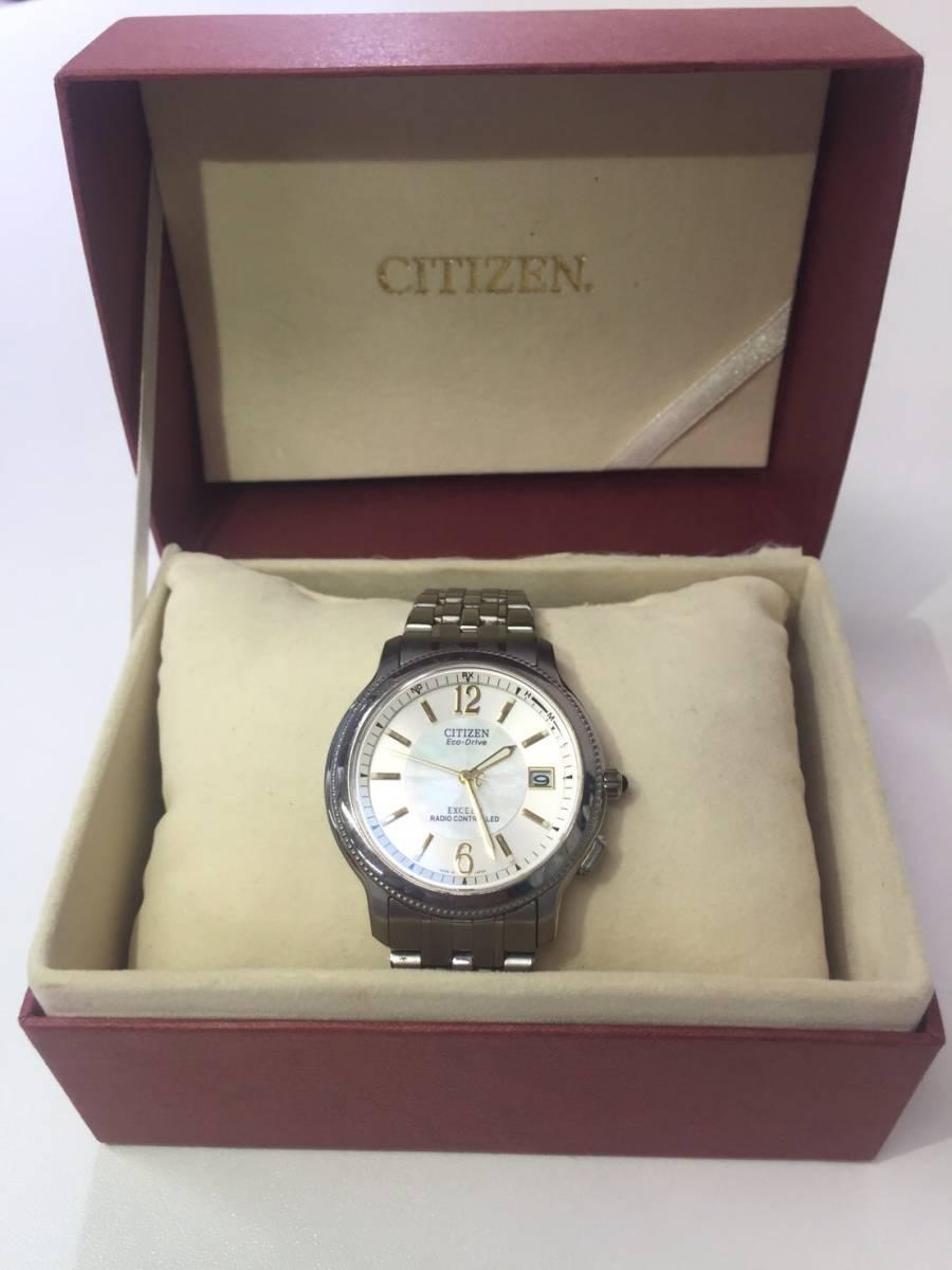 【CITIZEN】シチズン エコドライブ エクシード ソーラー電波 メンズ腕時計_画像2