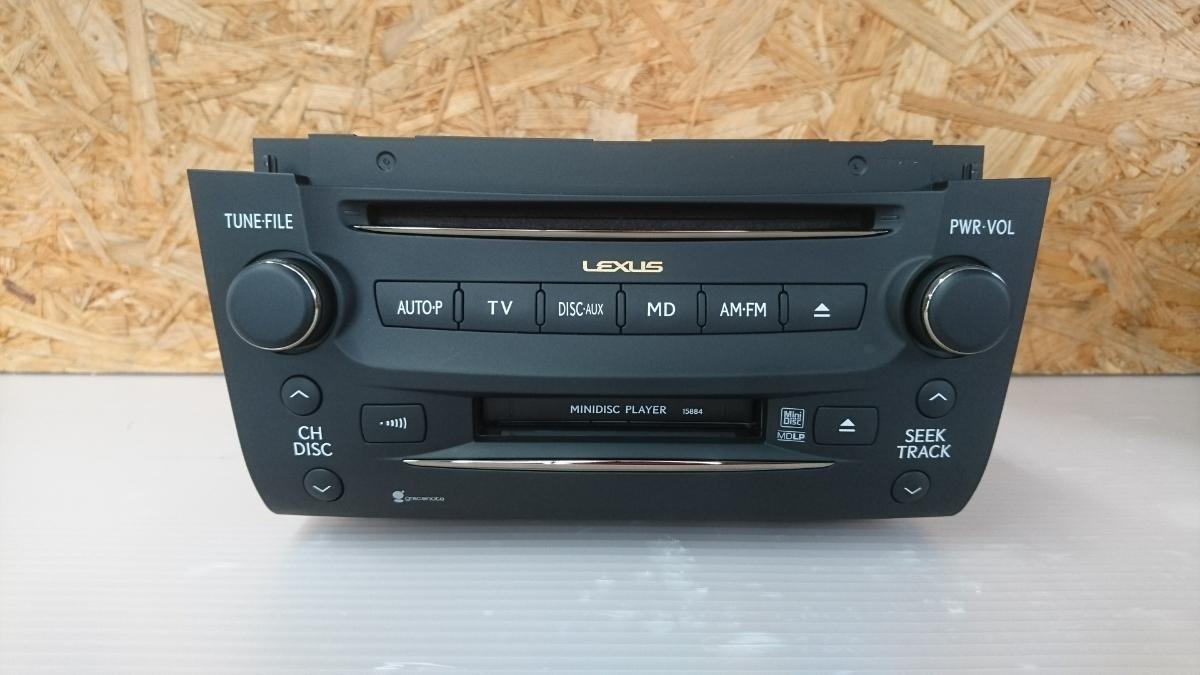 管u300504-0603 レクサス LEXUS GS460 URS190 / 純正 カー オーディオ CD&MD デッキ 動作確認済 良品 GS350 GS450 GS430 GRS