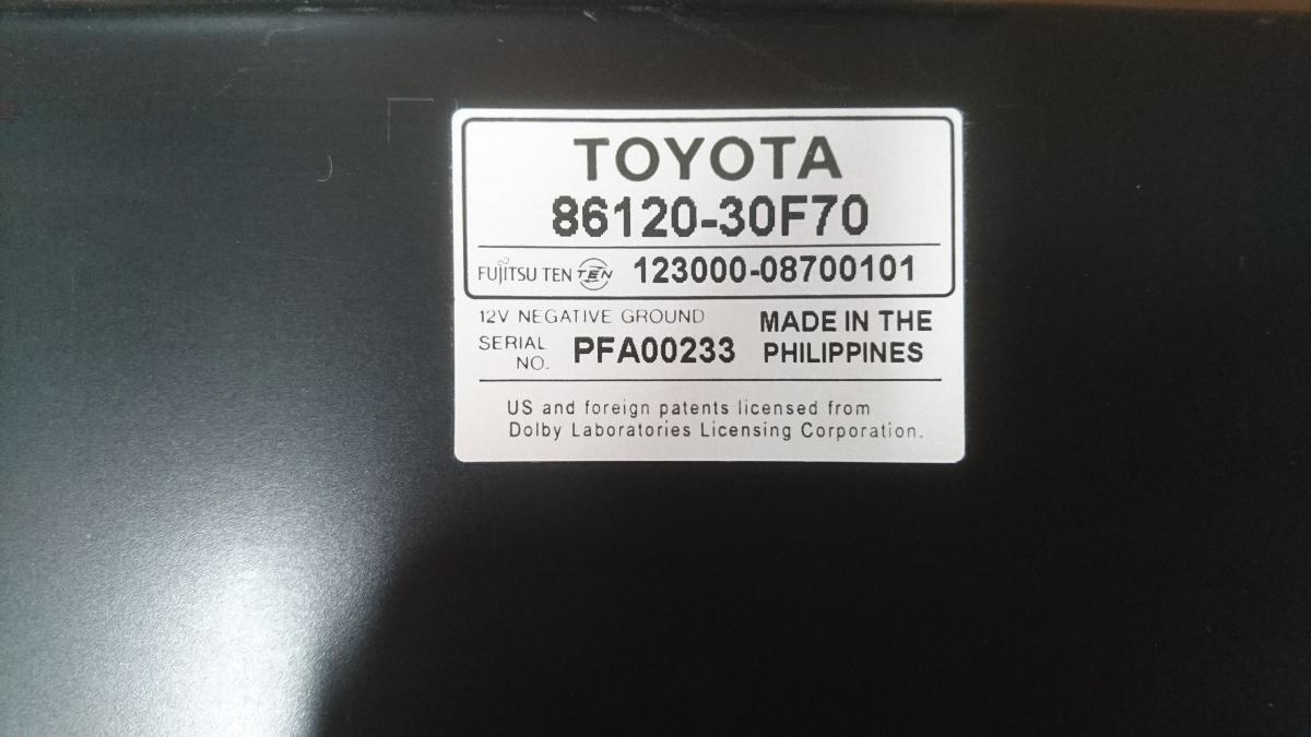 管u300504-0603 レクサス LEXUS GS460 URS190 / 純正 カー オーディオ CD&MD デッキ 動作確認済 良品 GS350 GS450 GS430 GRS_画像7