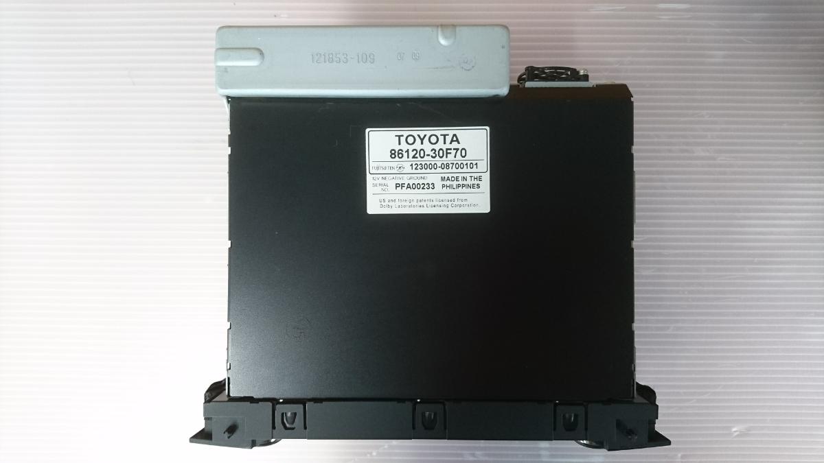 管u300504-0603 レクサス LEXUS GS460 URS190 / 純正 カー オーディオ CD&MD デッキ 動作確認済 良品 GS350 GS450 GS430 GRS_画像8