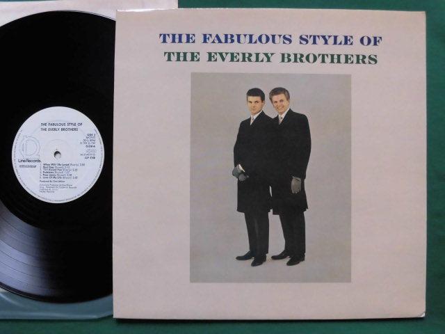 独復刻盤良品 The Fabulous Style of The Every Brothers 2ndアルバム/ビートルズも影響を受けたハーモニー・ヴォーカル・サウンド_画像1