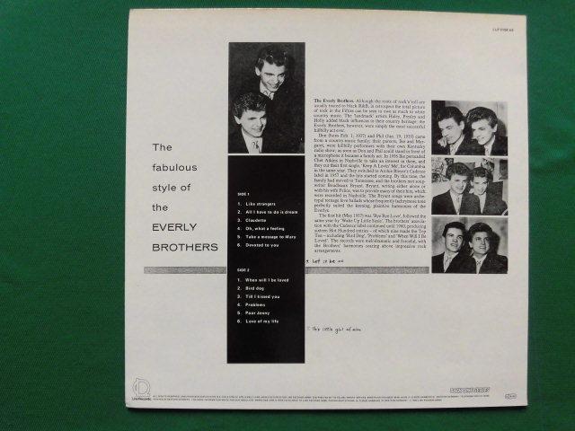 独復刻盤良品 The Fabulous Style of The Every Brothers 2ndアルバム/ビートルズも影響を受けたハーモニー・ヴォーカル・サウンド_画像2