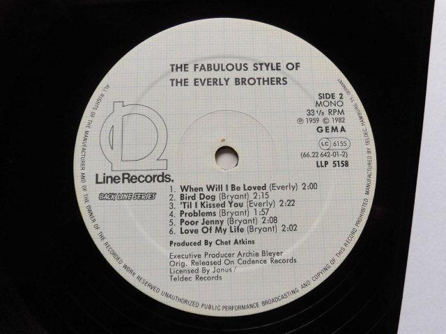 独復刻盤良品 The Fabulous Style of The Every Brothers 2ndアルバム/ビートルズも影響を受けたハーモニー・ヴォーカル・サウンド_画像4