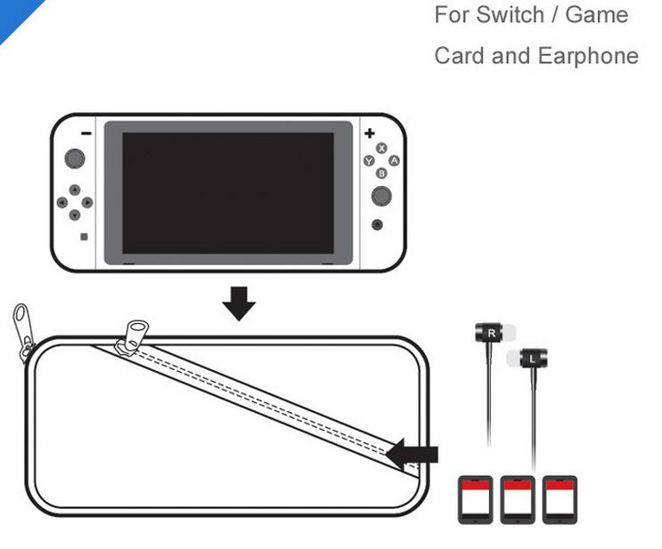 新品 Nintendo Switch対応 ニンテンドー スイッチ 専用ソフトポーチ ケース_画像4