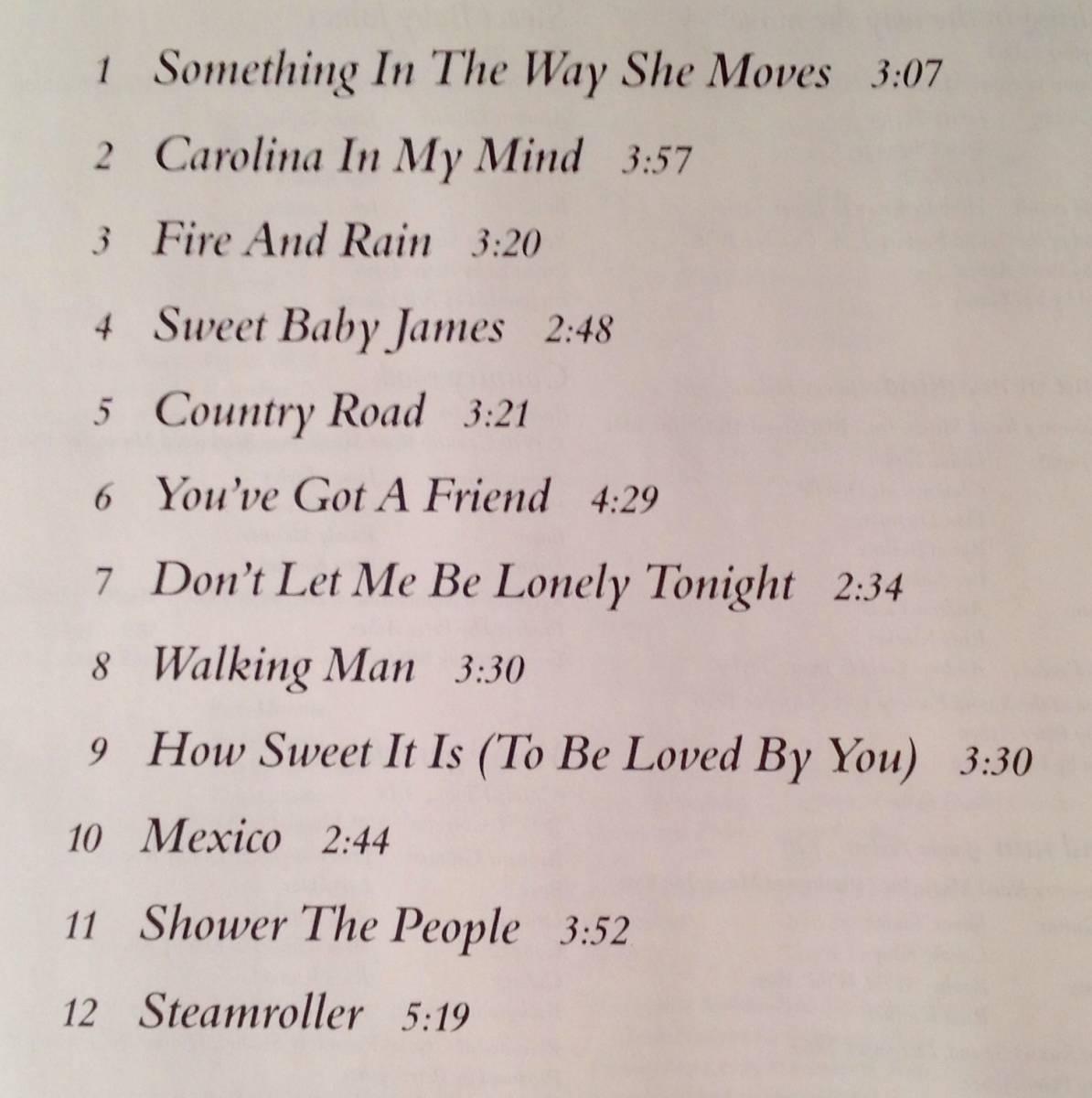 CD(輸入盤)■ジェイムス・テイラー James Taylor / Greatest Hits■美品!_画像3