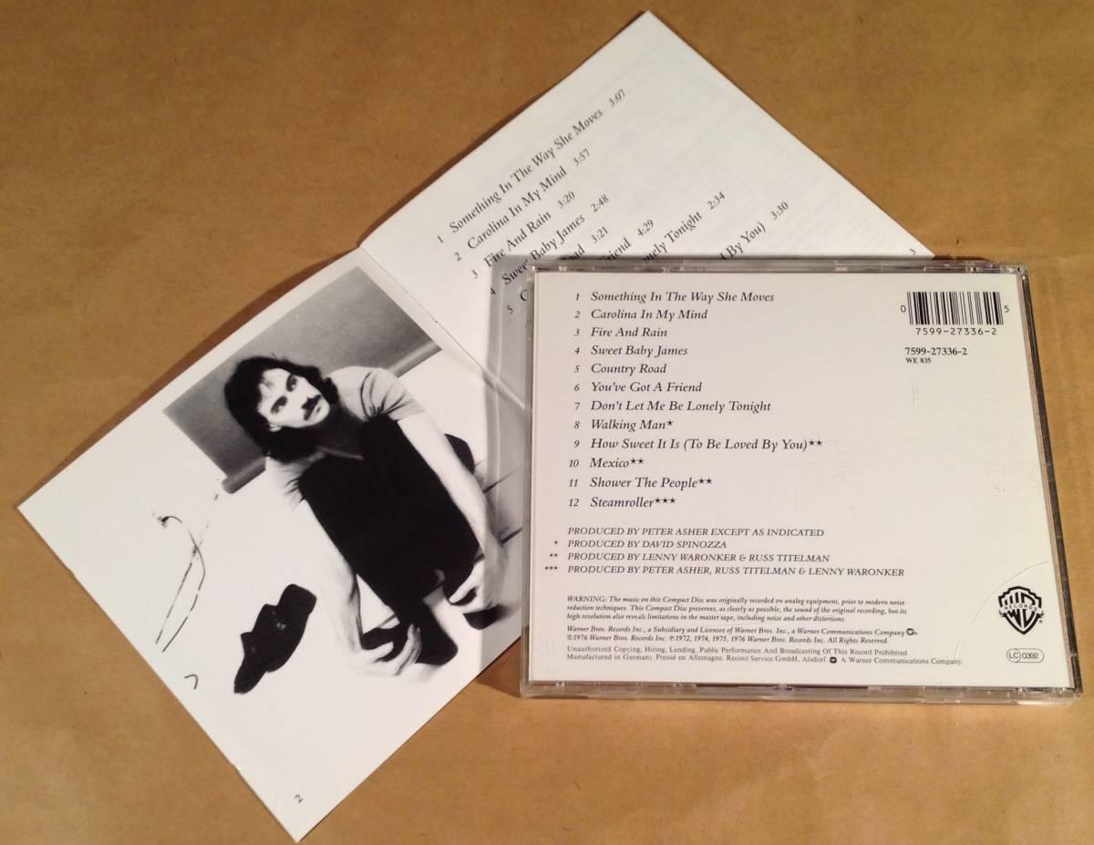 CD(輸入盤)■ジェイムス・テイラー James Taylor / Greatest Hits■美品!_画像2