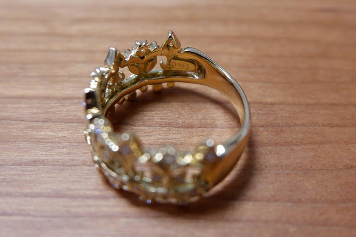 K18 アベリ ダイヤモンド 0.45ct リング 17号 AbHeri yoshinob ヨシノブ 750_画像9