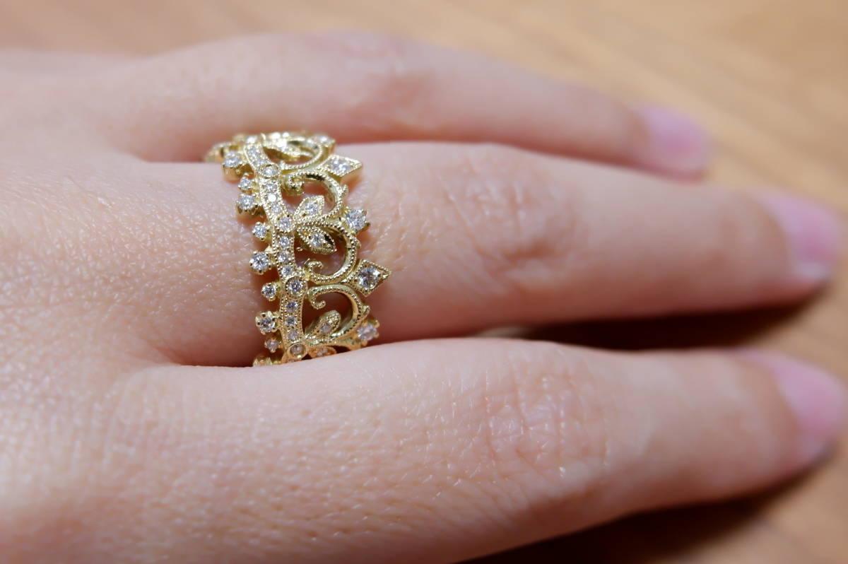 K18 アベリ ダイヤモンド 0.45ct リング 17号 AbHeri yoshinob ヨシノブ 750_画像4