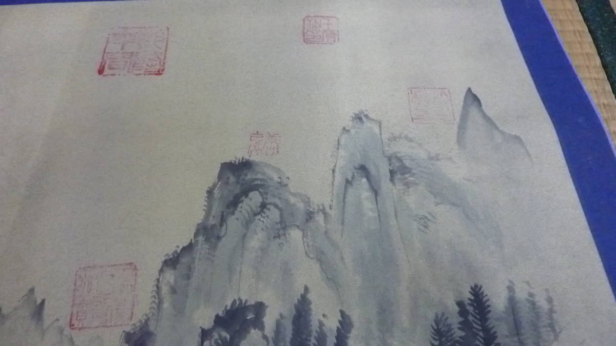 中国 裏通市場 1995年購入 掛け軸 風景画 傷み有 管理番号A843_画像5