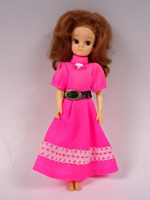 旧タカラ 初代リカちゃん ツイスト オリジナル服 ピンクのミニワンピース