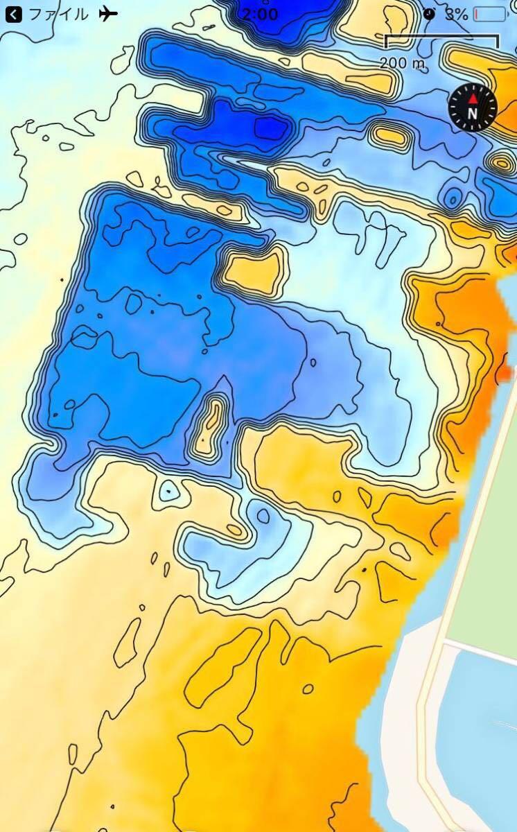 【スマホ南湖マップver4.0】IOS用 googleearth琵琶湖南湖全域マップデータ 自船位置追従 ヘディング対応 オフラインで使用可能_画像8