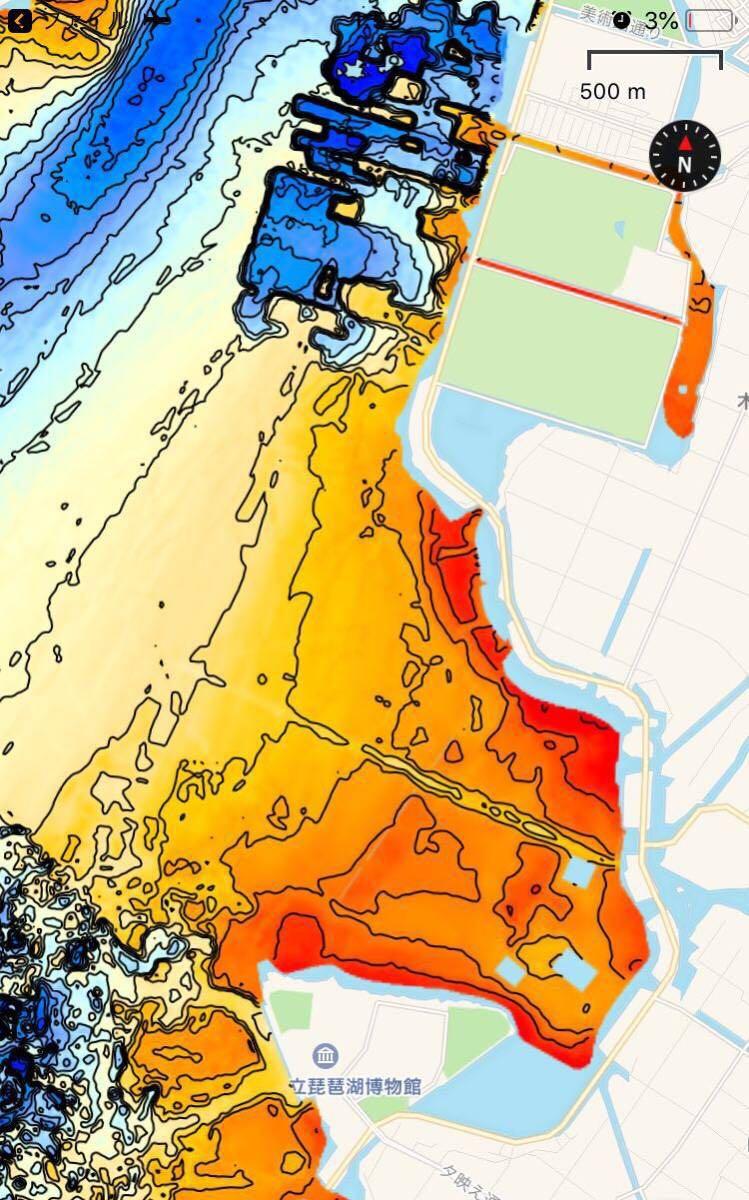 【スマホ南湖マップver4.0】IOS用 googleearth琵琶湖南湖全域マップデータ 自船位置追従 ヘディング対応 オフラインで使用可能_画像7