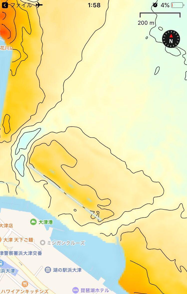【スマホ南湖マップver4.0】IOS用 googleearth琵琶湖南湖全域マップデータ 自船位置追従 ヘディング対応 オフラインで使用可能_画像5