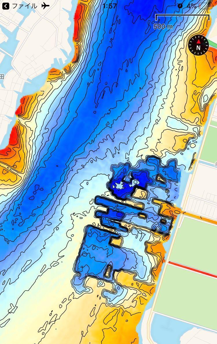 【スマホ南湖マップver4.0】IOS用 googleearth琵琶湖南湖全域マップデータ 自船位置追従 ヘディング対応 オフラインで使用可能_画像3