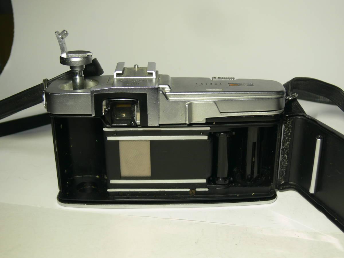 オリンパスペンFT【Gズイコー1:1.4 f=40mm付き】純正フード・革ケースキャップ付き レンズはきれい_画像5