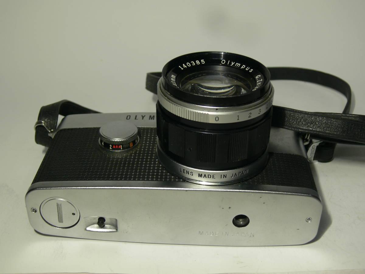 オリンパスペンFT【Gズイコー1:1.4 f=40mm付き】純正フード・革ケースキャップ付き レンズはきれい_画像7