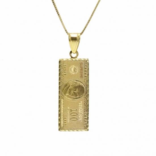 new goods unused Supreme Supreme 17AW 100 Dollar Bill Gold