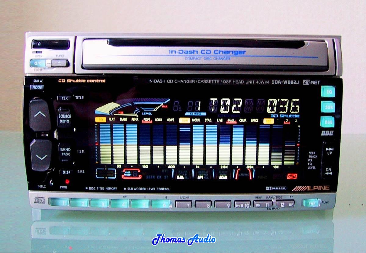 ALPINE 3 disk change in-dash CD changer built-in cassette