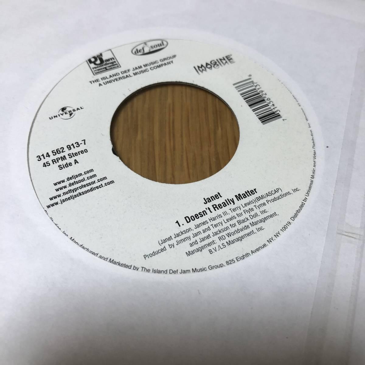 【レコード】 JANET JACKSON / Doesn't Really Matter 7インチ ジャネット・ジャクソン 新品未開封 【アナログ】_画像3