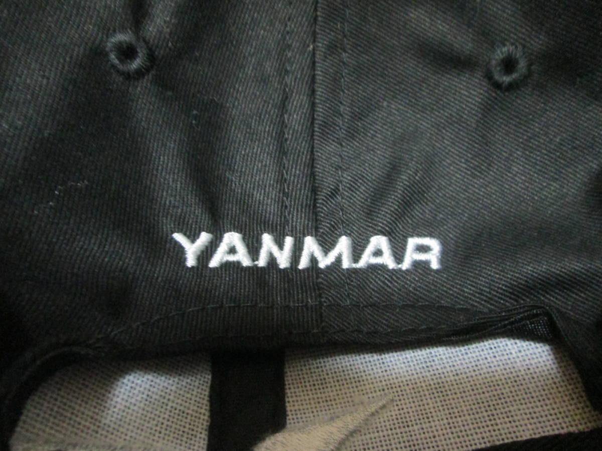 ヤンマー YANMAR 販売促進用? キャップ 野球帽 オンワード商事謹製 綿100% フリーサイズ 未使用 ブラック クボタ _画像3