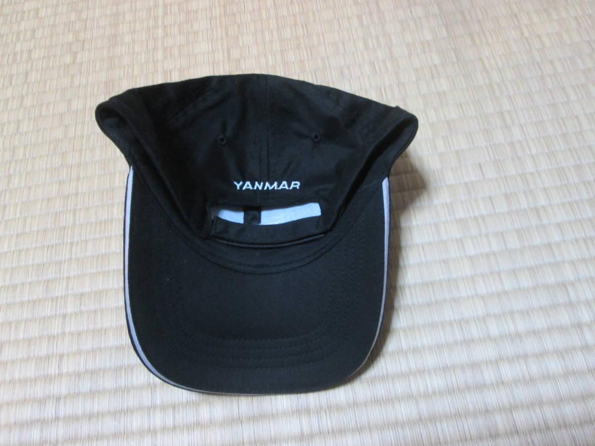 ヤンマー YANMAR 販売促進用? キャップ 野球帽 オンワード商事謹製 綿100% フリーサイズ 未使用 ブラック クボタ _画像4