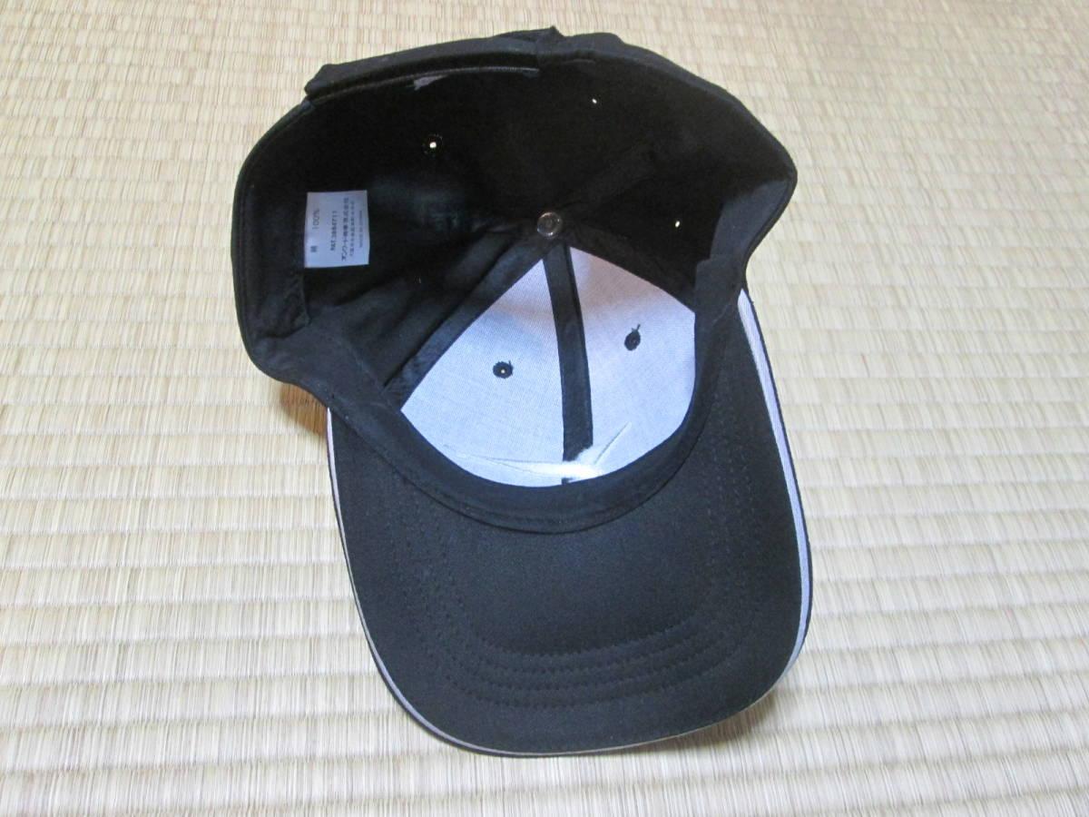 ヤンマー YANMAR 販売促進用? キャップ 野球帽 オンワード商事謹製 綿100% フリーサイズ 未使用 ブラック クボタ _画像8