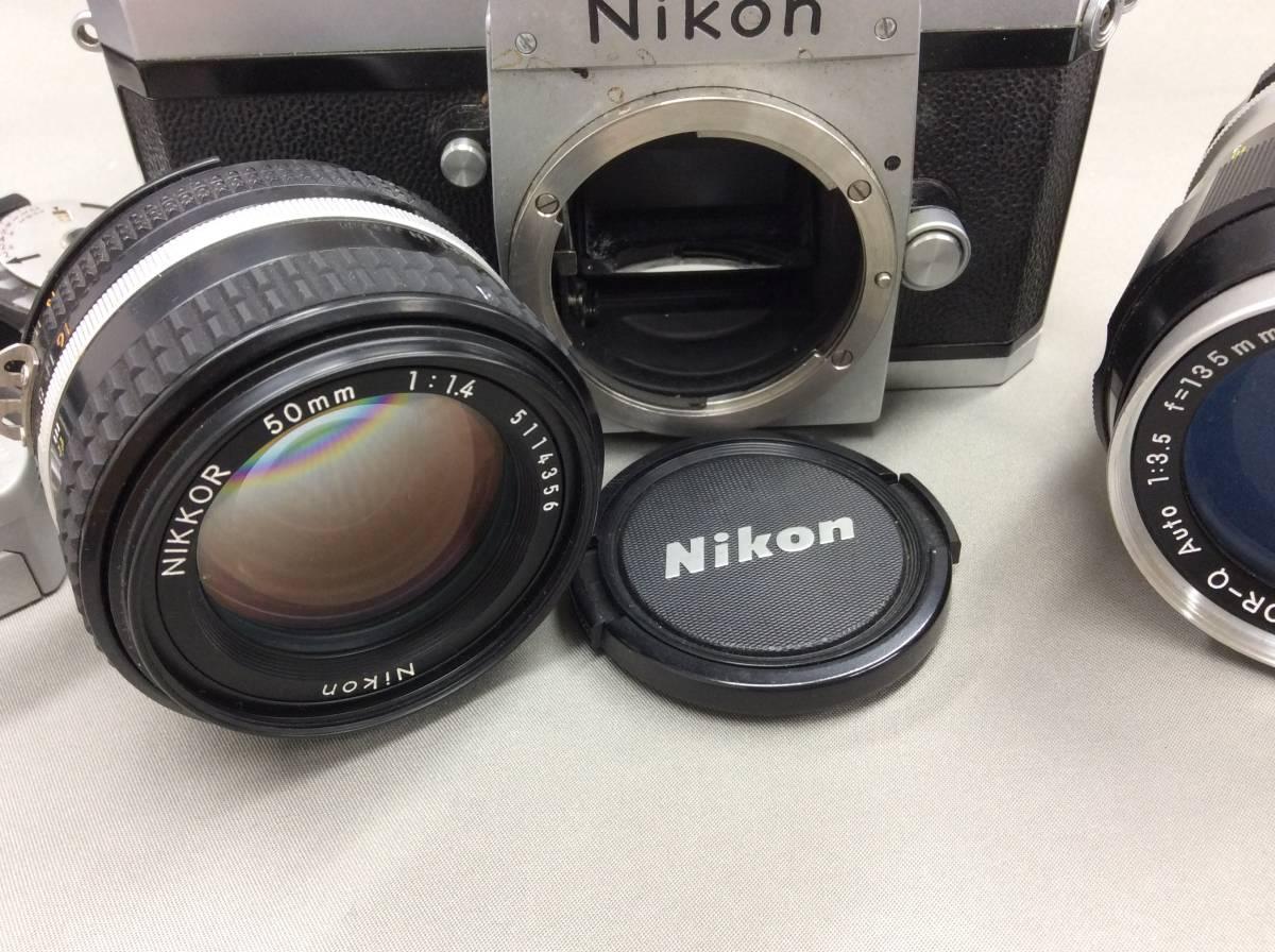 ★Nikon F レンズ2本 アクセサリーセット 中古カメラ★_画像3