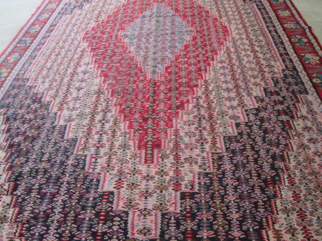 希少豪華!大型 繊細な柄のオールドキリム Kilimビンテージ アンティーク/店舗什器内装インテリア絨毯カーペット70's80's_画像2