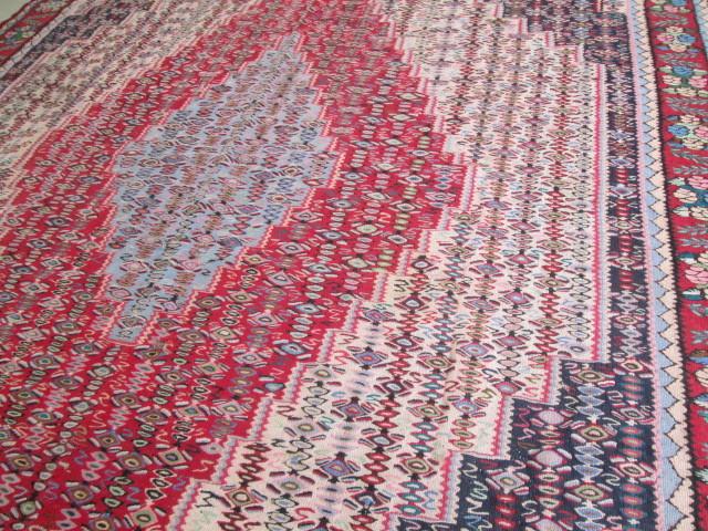 希少豪華!大型 繊細な柄のオールドキリム Kilimビンテージ アンティーク/店舗什器内装インテリア絨毯カーペット70's80's_画像10