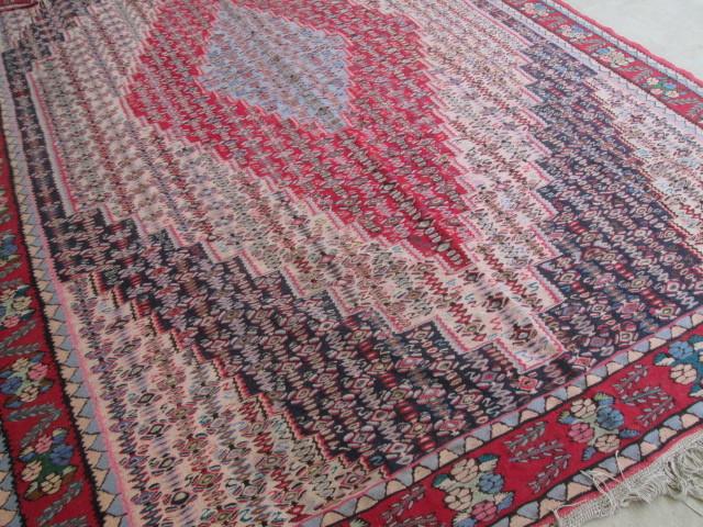 希少豪華!大型 繊細な柄のオールドキリム Kilimビンテージ アンティーク/店舗什器内装インテリア絨毯カーペット70's80's_画像6