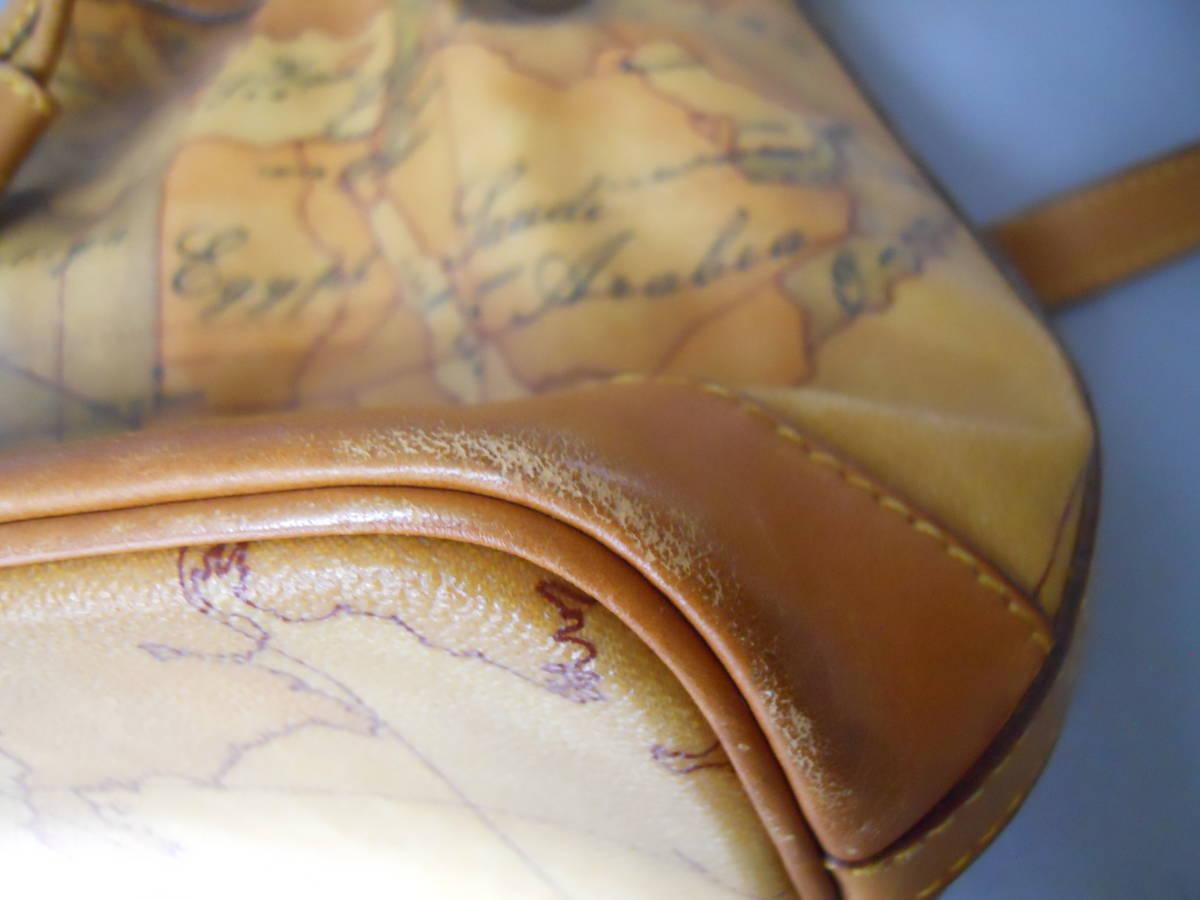♪ 素適 プリマクラッセ 地図柄 巾着タイプ ショルダーバッグ  日本地図 ♪_画像7