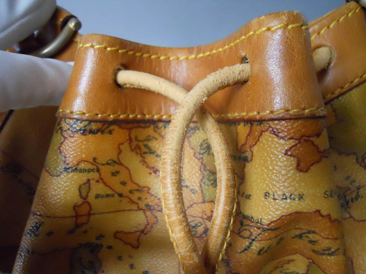 ♪ 素適 プリマクラッセ 地図柄 巾着タイプ ショルダーバッグ  日本地図 ♪_画像8