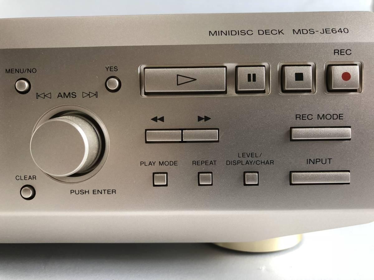 SONY ソニー MDS-JE640 通電確認のみ ジャンク_画像4