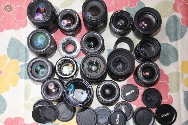撮影に影響無 たくさん まとめ レンズセット 複数台 大量 セット Nikon ニコン Pentax CANON キャノン キャノン Tamron