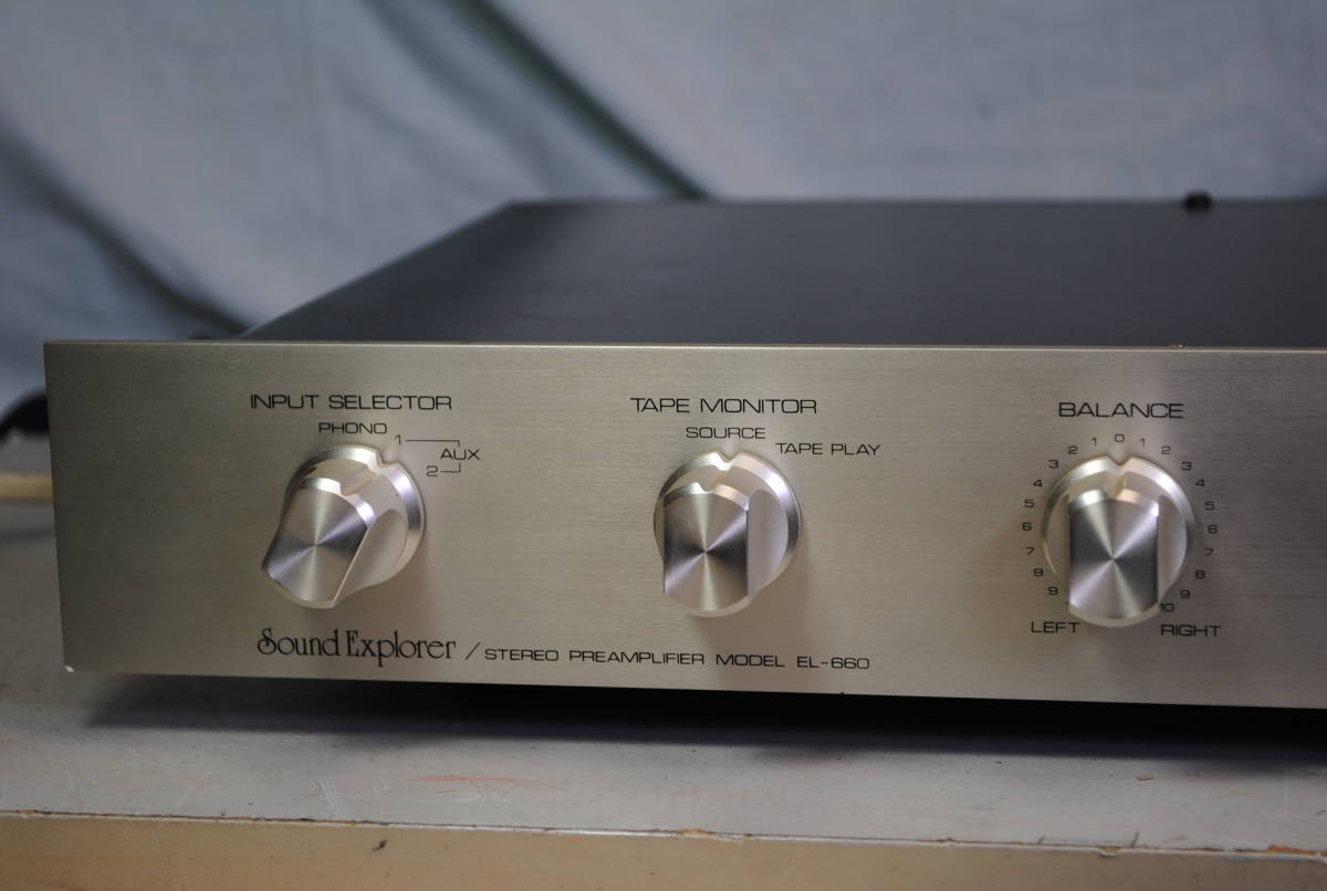 Sound Explorer 値下げ交渉  EL-660 プリアンプ 完動品【3ヶ月保証 】_画像2