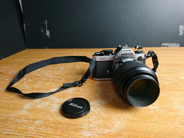 5-12D NIKON フィルムカメラ FM2 +レンズ AF MICRO NIKKOR 105mm 1:2.8